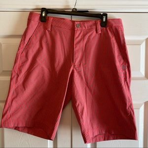 Under Armour Pink Gingham Golf Shorts
